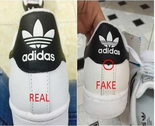 phân biệt giày adidas chính hãng và fake