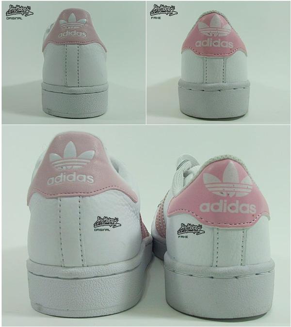 Phần đế của giày xịn (trái) và giày fake (phải) có sự khác biệt rõ ràng về độ chắc chắn.