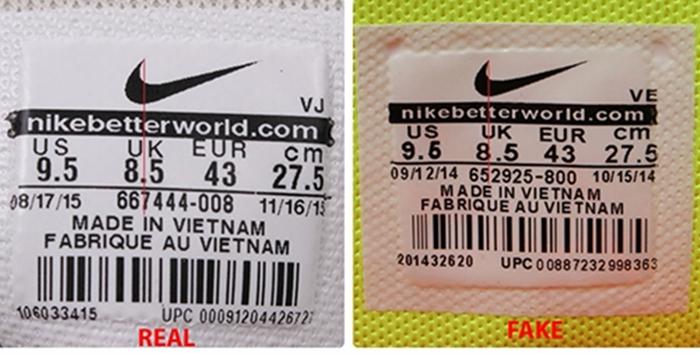 5 cách phân biệt giày nike xịn và giày nike fake