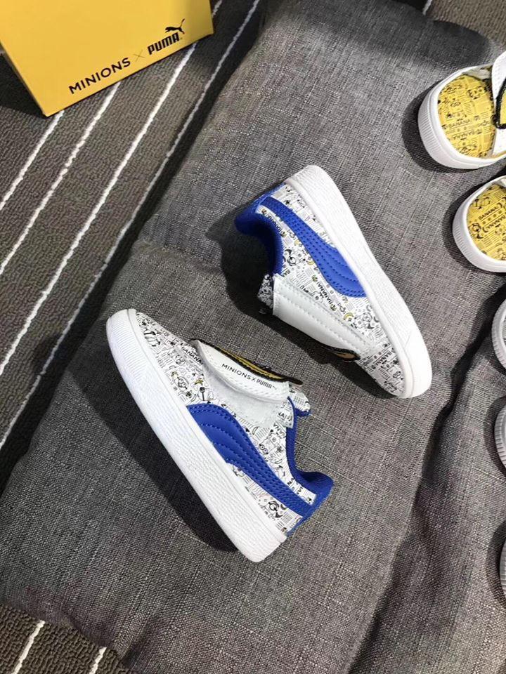 Giày Puma minions màu xanh - PU001