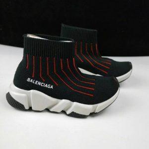 Giày Balenciaga cao cổ kẻ sọc đỏ BA003