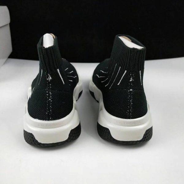 Giày Balenciaga cao cổ kẻ sọc trắng