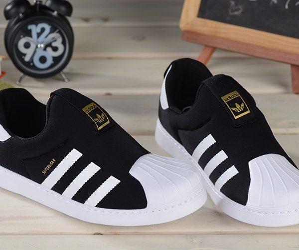 Baby Kids Adidas Superstar Slip On Core Black_01
