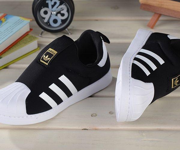 Baby Kids Adidas Superstar Slip On Core Black_03