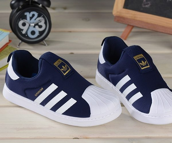 Baby Kids Adidas Superstar Slip On Obsidian_01