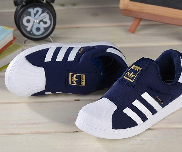 Baby Kids Adidas Superstar Slip On Obsidian_02