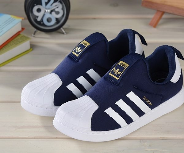 Baby Kids Adidas Superstar Slip On Obsidian_LRG