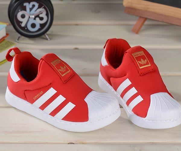 Baby Kids Adidas Superstar Slip On Red_01