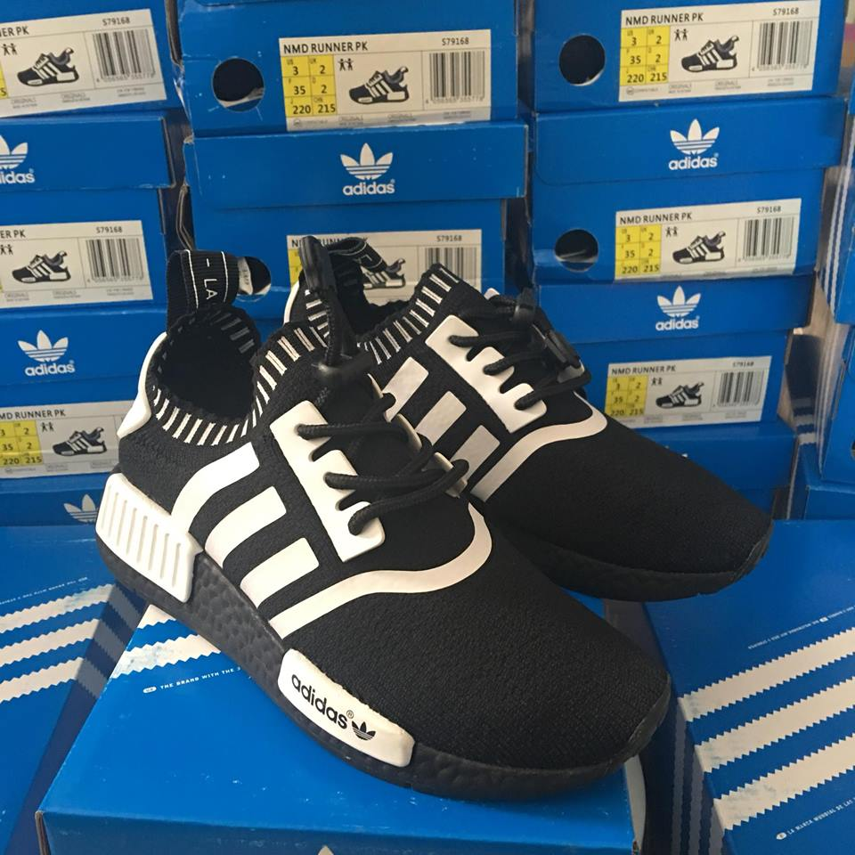 Giày thể thao Adidas NMD trẻ em đen trắng