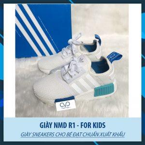 Giày thể thao Adidas NMD R1 Trắng Xanh