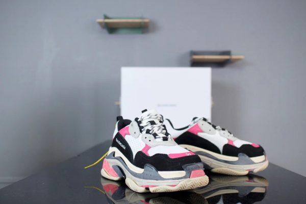 Giày Balenciaga Triple S mũi hồng