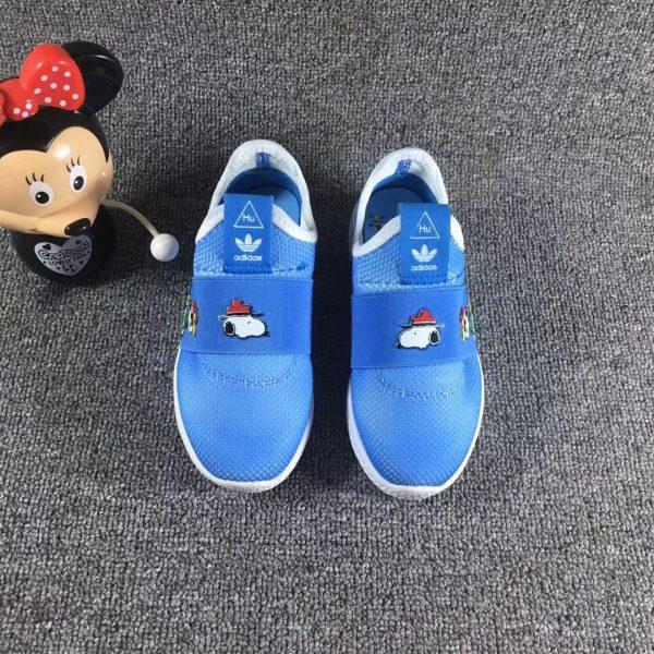 Giày trẻ em adidas màu vàng xanh nước biển