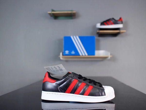 Giày Adidas Super Star Đen Đỏ