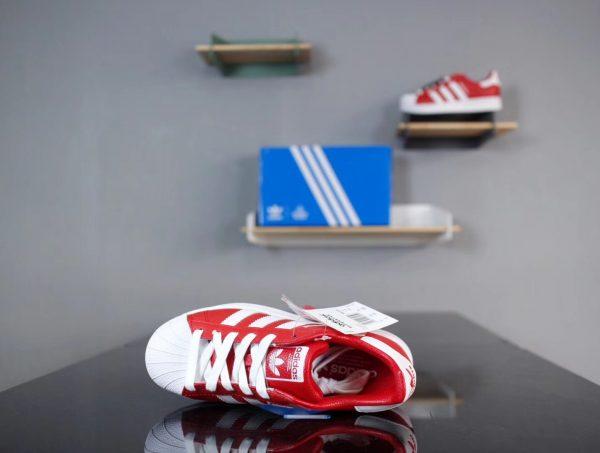 Giày Adidas Super Star Đỏ vạch trắng