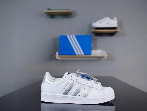 Giày Adidas Super Star Trắng Bạc 001