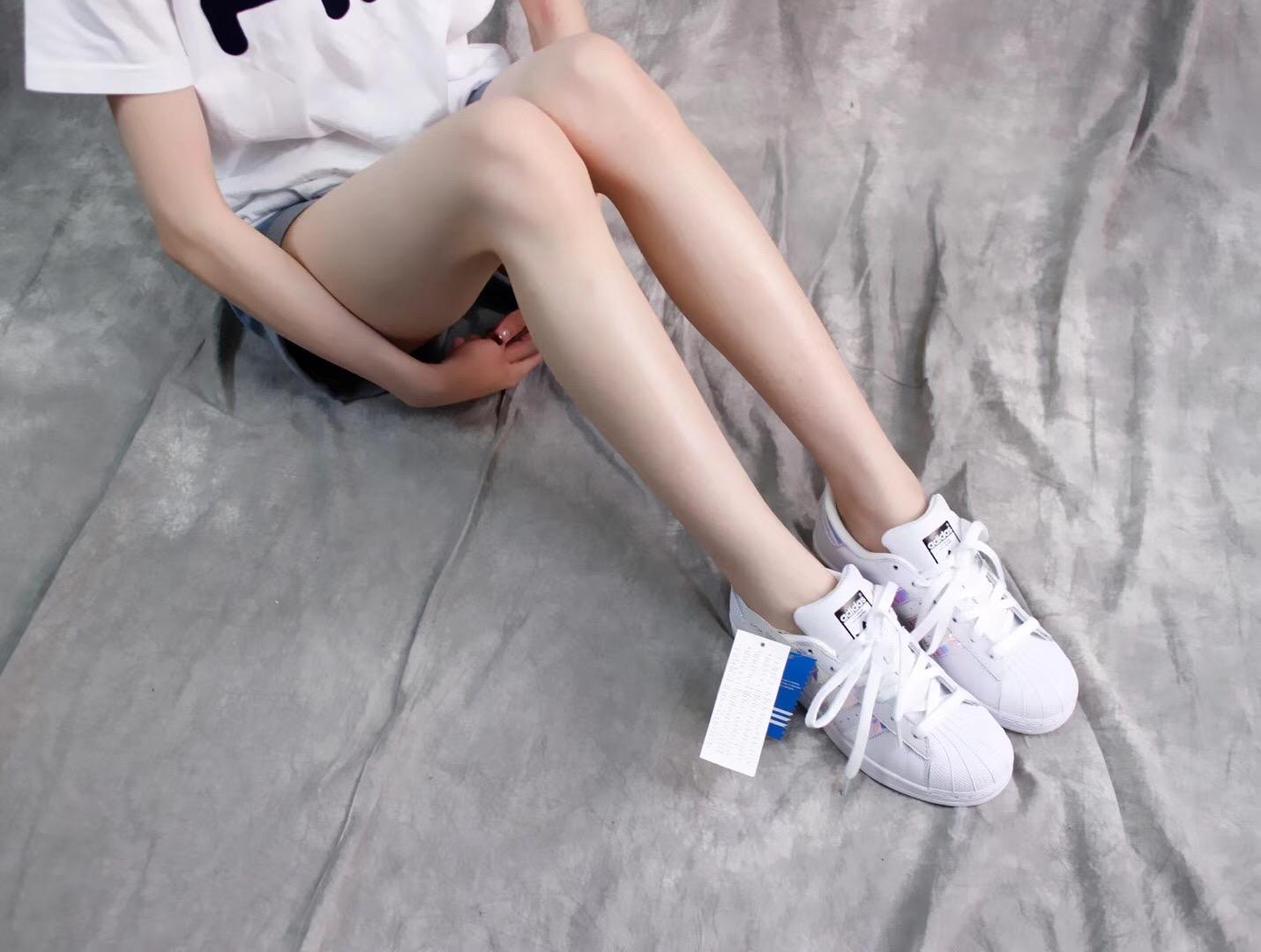 Giày Adidas Super Star trắng bóng 001