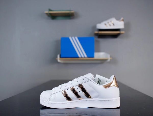 Giày Adidas Super Star Full Trắng mạ vàng