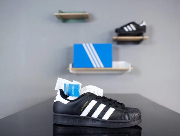 Giày Adidas Super Star Đen sọc trắng