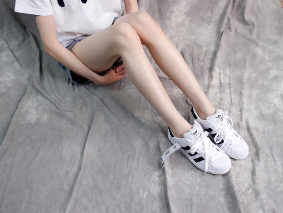 Giày Adidas Super Star trắng sọc đen 003