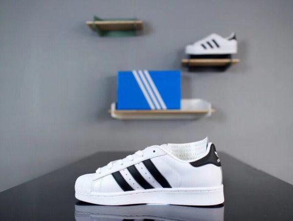 Giày Adidas Super Star trắng sọc đen