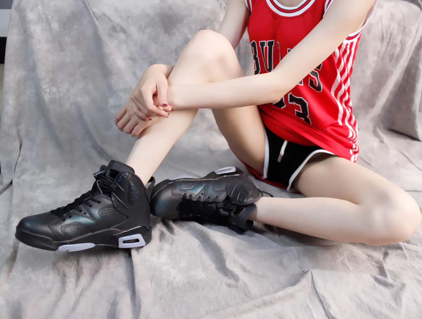 Giày nike Jordan 6 huyền thoại Air Full đen