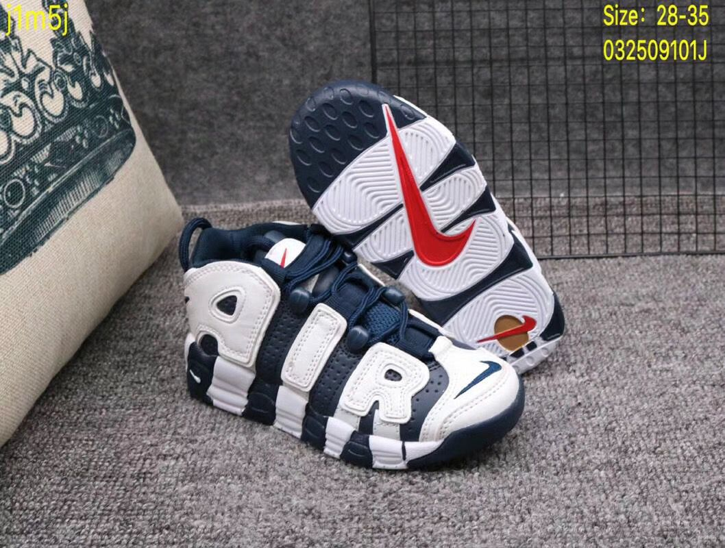 Giày Nike Air More Uptempo xanh trắng