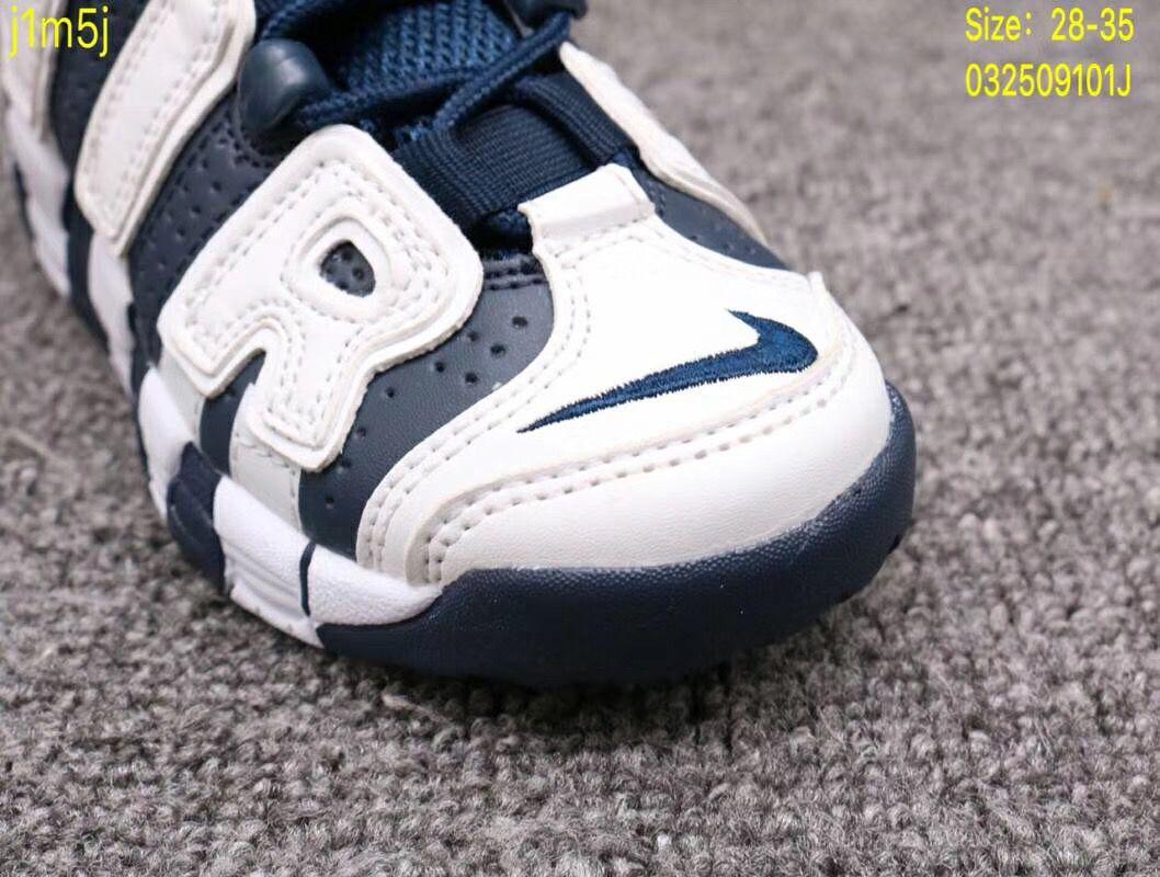Giày Nike Air More Uptempo xanh trắng