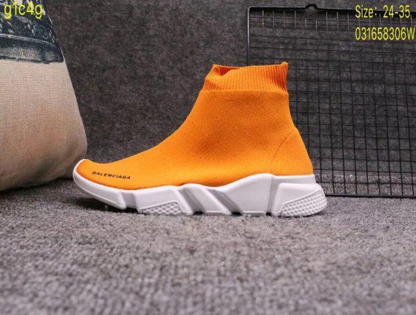 Giày Balenciaga cao cổ màu cam