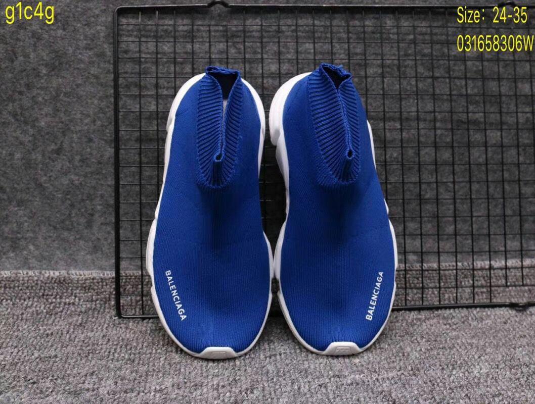 Giày Balenciaga cao cổ màu xanh