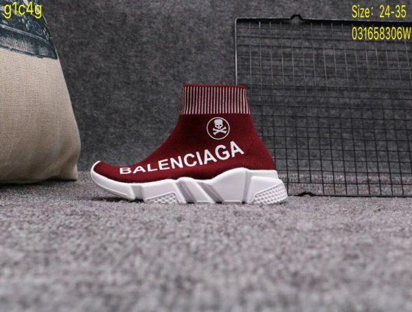 Giày Balenciaga cao cổ màu nâu