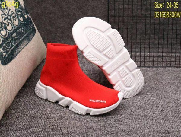 Giày Balenciaga cao cổ màu đỏ