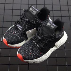 Giày Adidas Prophere Trẻ em đen mũi cam
