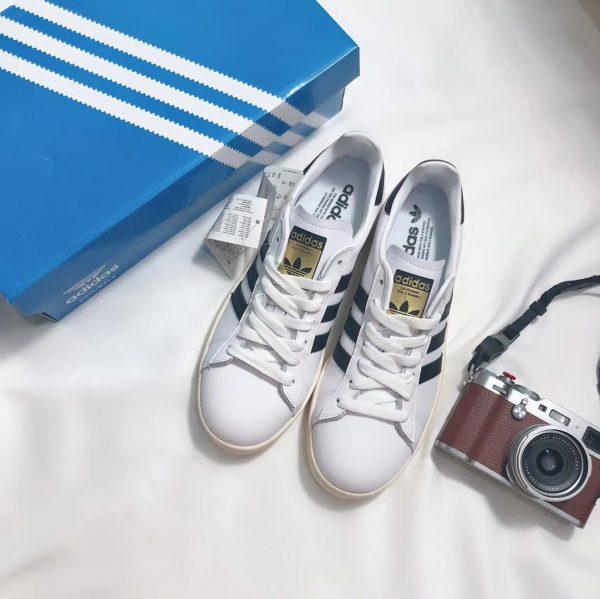 Giày Adidas CAMPUS trắng sọc đen