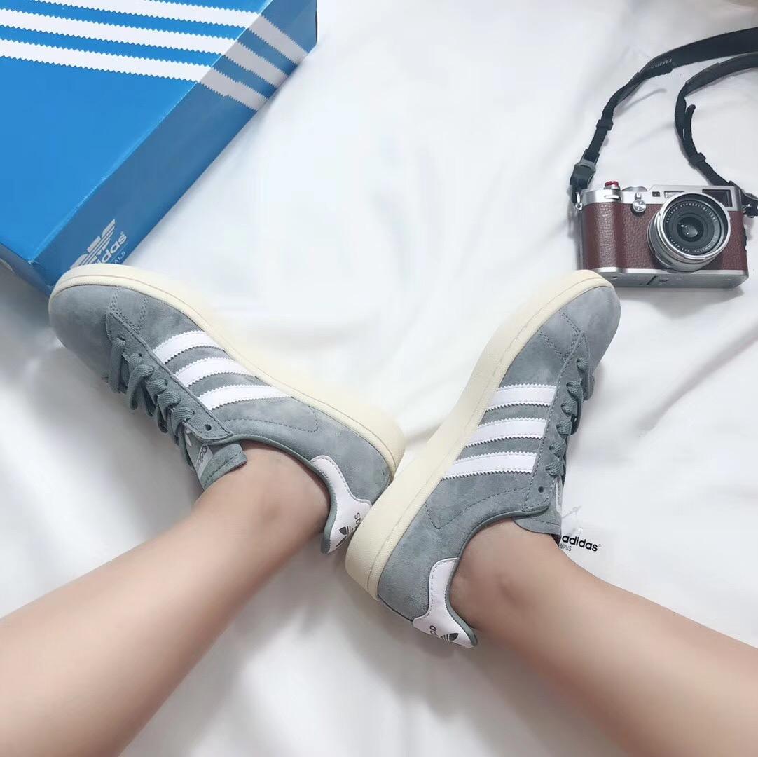 Giày Adidas CAMPUS xanh ghi
