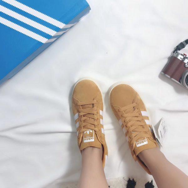 Giày Adidas CAMPUS màu be vàng