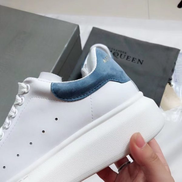 Giày Alexander mcqueen gót xanh navy