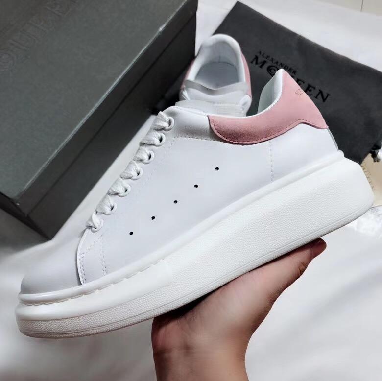 Giày Alexander mcqueen gót hồng