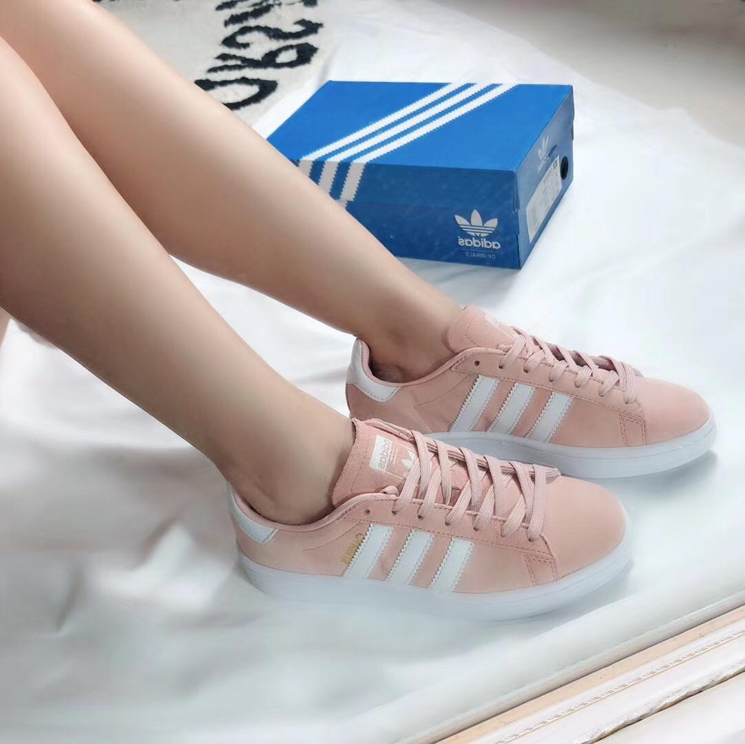 Giày Adidas CAMPUS màu hồng nhạt