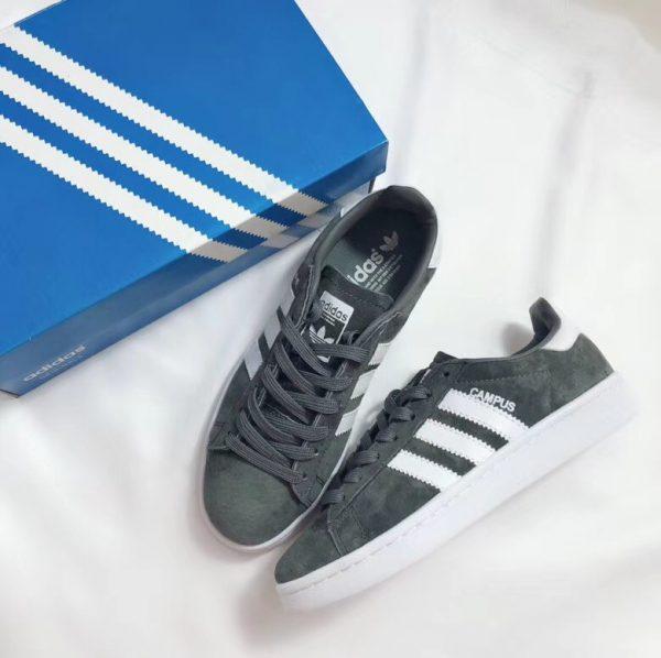 Giày Adidas CAMPUS màu xanh ghi