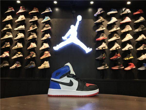 Giày Nike Jordan 1 Retro 4 màu xanh đỏ trắng đen