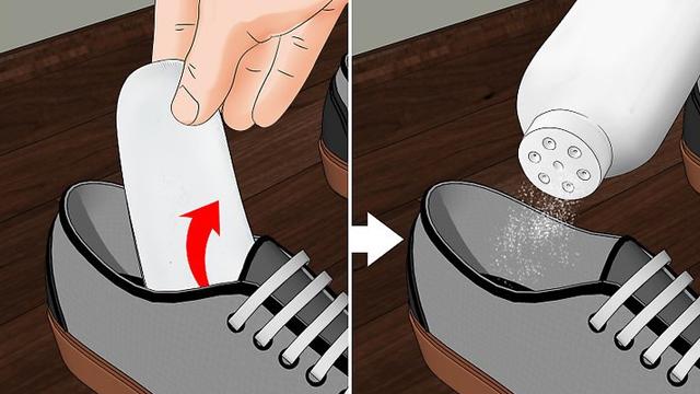 #8.Khử mùi giày với phấn rôm em bé