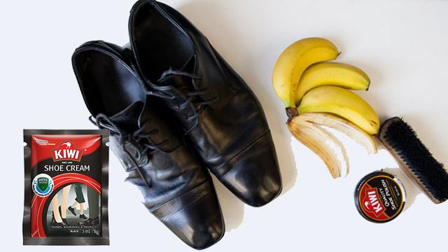 #7.Vỏ chuối chín giúp làm mới giày da