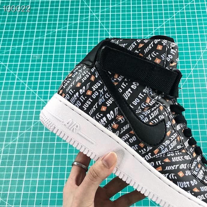 Giày nike nữ Air force 1 Just do it màu đen