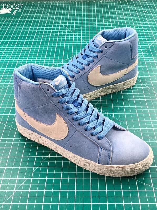 Giày nike nữ SB màu xanh da lộn