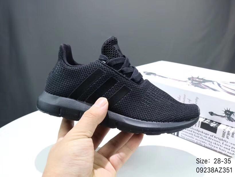 Giày thể thao trẻ em Adidas Run wift full đen