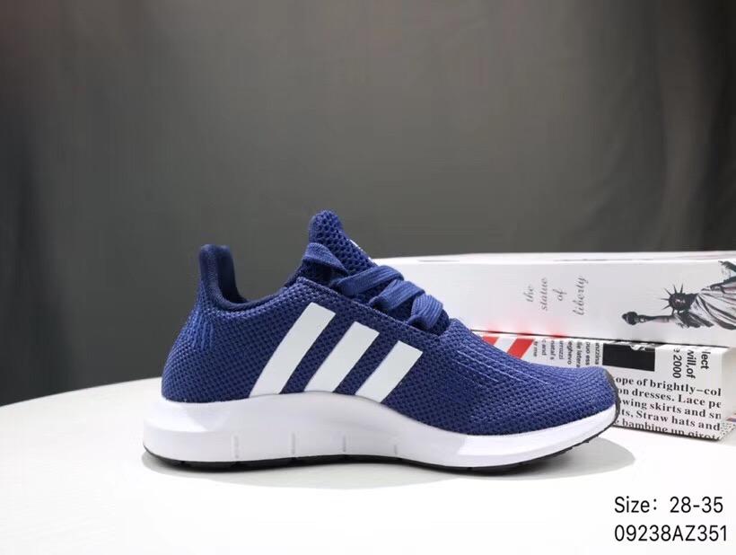 Giày thể thao trẻ em Adidas Run wift xanh