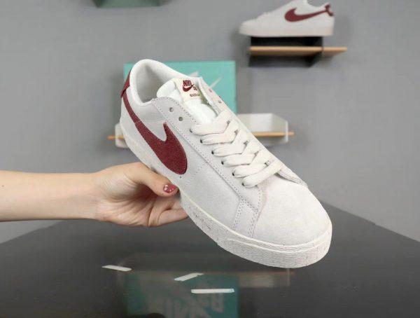 Giày nike nữ SB màu trắng nâu