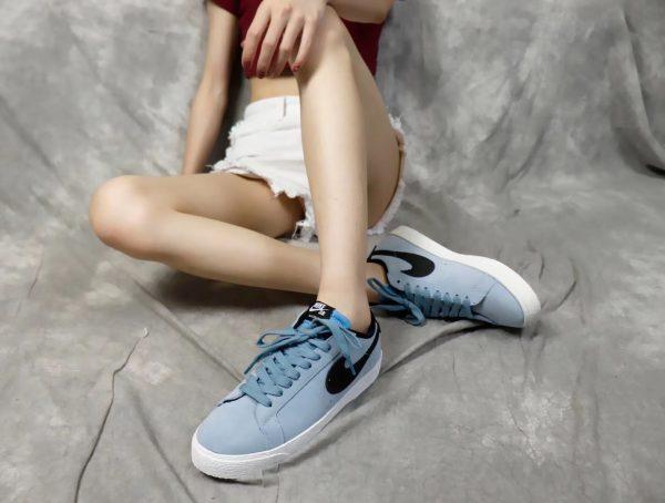 Giày nike nữ SB màu xanh nhạt