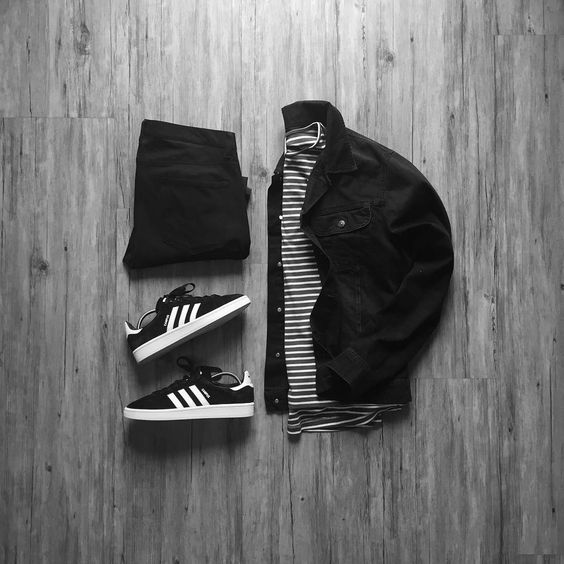 Mix đồ với giày adidas superstar