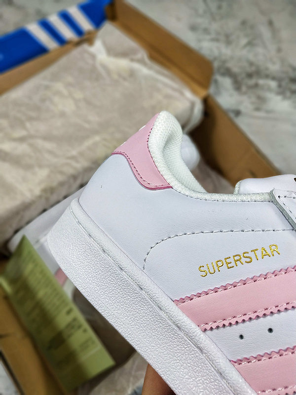 Giày adidas superstar gót hồng 001